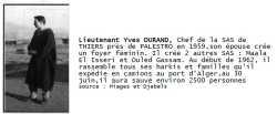 Lieutenant Yves DURAND - SAS de THIERS
