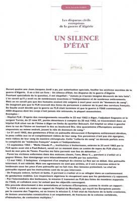 Photo-titre pour cet album: Un Silence d'ETAT