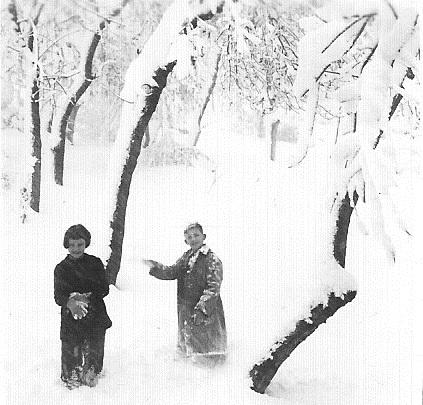 MILIANA en 1954 sous la neige