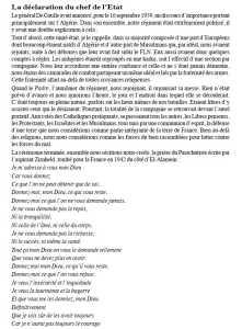 De Gaulle  Le discours du 16 Septembre 1959