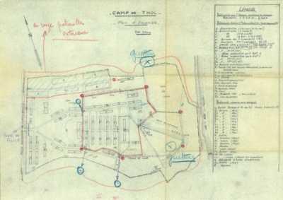 Plan du camp de Thol en 1959