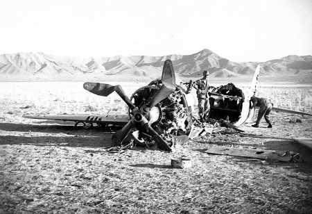 Un Republic P-47 Thunderbolt abattu