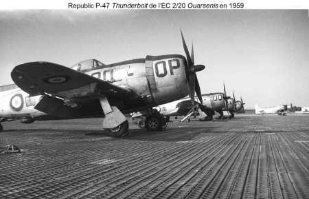 P-47 en 1959 sur le terrain de BOUFARIK