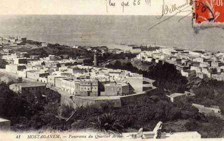 MOSTAGANEM -  Vue du Quartier Arabe