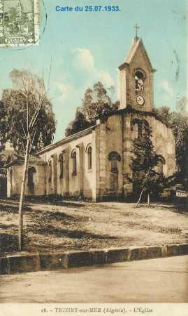 TIGZIRT-SUR-MER L'Eglise en 1930