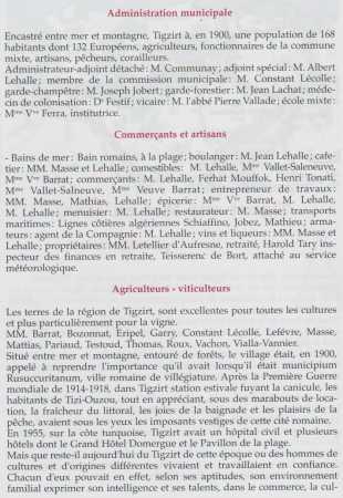 TIGZIRT-sur-MER en 1900