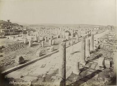TIMGAD - Ruines et voie Romaine