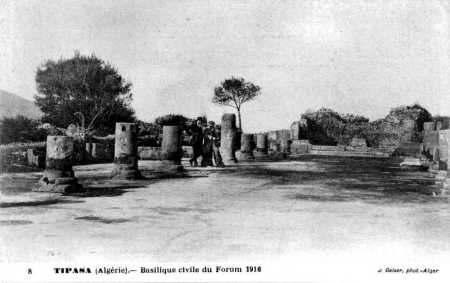 TIPASA - Basilique du Forum en 1916