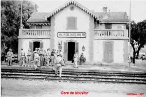 La gare de Nouvion en 1957