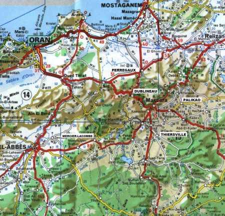 Carte de TIZI et ses environs TIZI, entre BOU-HANIFIA et THIERSVILLE