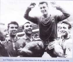 JUSTO FONTAINE meilleur buteur de la coupe du monde en 1958