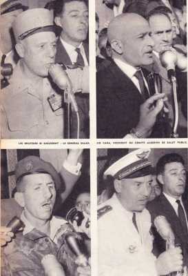 13 MAI 1958 Raoul SALAN Sid CARA MASSU AUBOYNNEAU