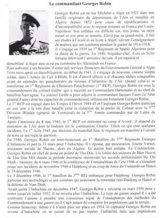 Commandant Georges ROBIN