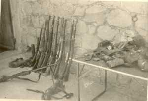 Tableau de chasse de la harka de Bernelle le 3 mars 1962 11 rebelles abattus