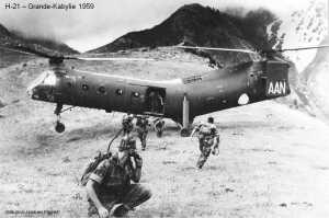 H-21 en grande Kabylie en 1959