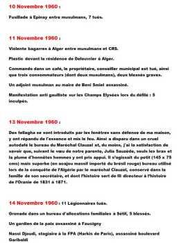 10 au 14 Novembre 1960