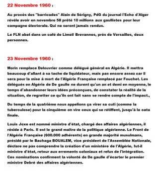 22 et 23 Novembre 1960