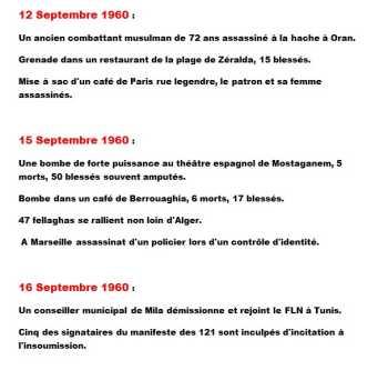12 au 16 Septembre 1960