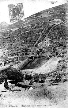 Mines du Zaccar - Descente du minerai