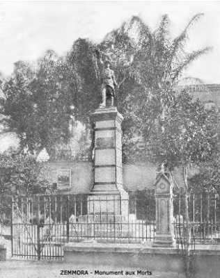 ZEMMORA - Le Monument aux Morts