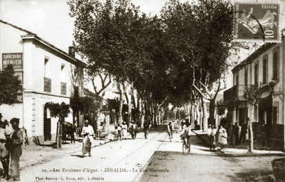 ZERALDA en 1900 -Rue Nationale