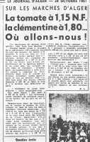 Journal d'Alger  du 28 Octobre 1961