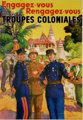 Affiche - Troupes Coloniales