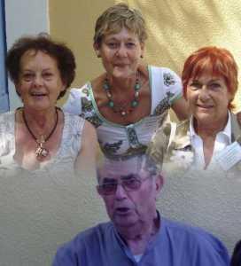 LA VIERE 2009 ---- Lucette AUTHIE Christiane CAMILLERI Marie-Louise MAZARS Georges MAZARS