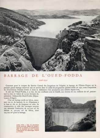 le Barrage d'OUED-FODDA / LAMARTINE