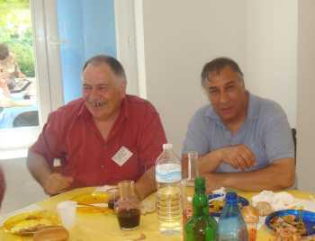 Retrouvailles LA VIERE 2009 ---- Robert BEAUSSIER Djamel BELKHARROUBI