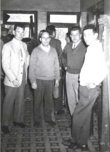 MARS 1961 au NOVELTY  1- BUIGUES Jeannot 2- Jean SINTES 3- Michel HEBLER 4- Charly BENSAID
