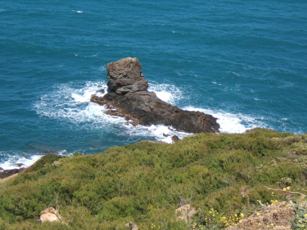 le rocher Turc (ou du Lion) aux environs de la plage de BOUCHERAL