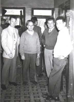 MARS 1961 au NOVELTY  1- Jeannot BUIGUES  2- Jean SINTES 3- Michel HEBLER 4- Charly BENSAID