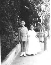 Jean Paul et Christiane CAMILLERI Octobre 1948 Mariage de Pierrette ANDRE