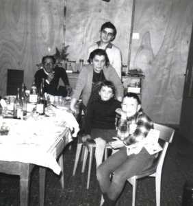 Gaby CERVERA et sa famille au 1er plan : Christian CERVERA