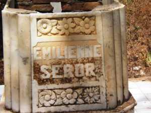 Caveau d'Emilienne SEROR en 2009
