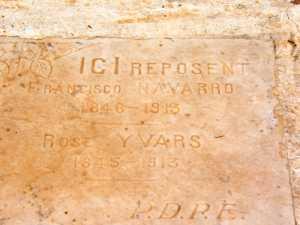 Francisco NAVARRO 1846 - 1913 et  Rose YVARS 1845 - 1913