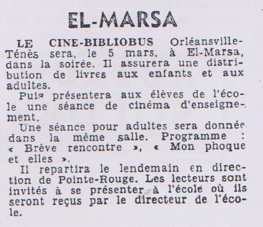 EL MARSA - 5 Mars 1956