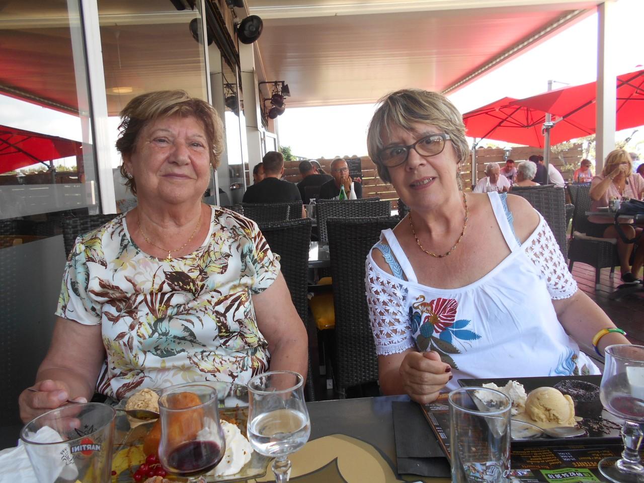 GIGEAN le 16 juin 2021 Alice TORREGROSSA (80 ans) et Danielle MANSION
