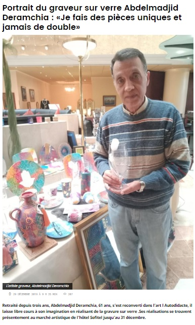 Abdelmadjid DERAMCHIA Graveur sur verre