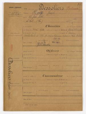 Photo-titre pour cet album: Documents Divers Hippolite DESSOLIERS