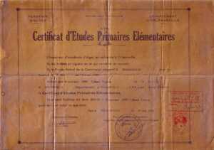 Certificat d'Etudes Primaires