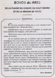 Photo-titre pour cet album: Echos du Pays  N° 2 -  Avril 1993