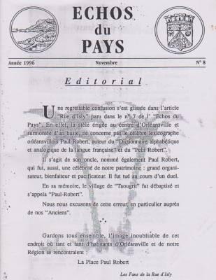 Photo-titre pour cet album: L'ECHO du PAYS - 1996
