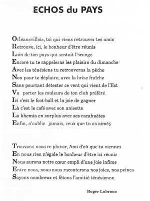Echo du Pays - Roger LUBRANO
