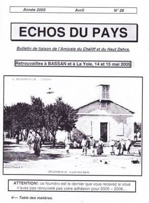 Photo-titre pour cet album: L'ECHO du PAYS  Avril 2005