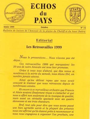 Photo-titre pour cet album: L'ECHO du PAYS  Octobre 1999
