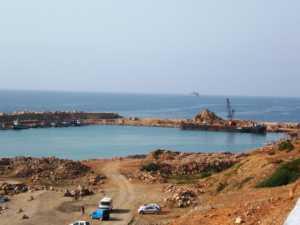 EL MARSA en 2008 le nouveau port L'ilot Colombi au fond