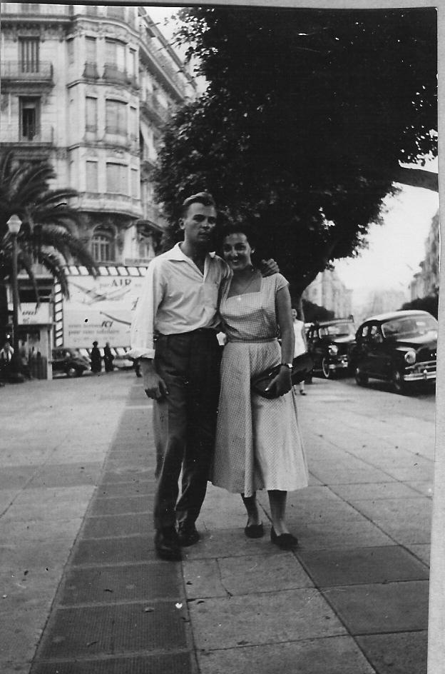 1954 - Georges et Annie rue Michelet