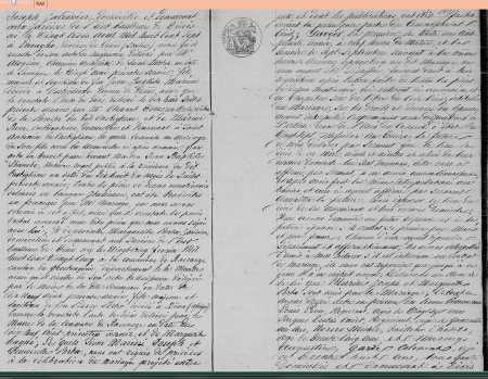 Mariage entre Joseph MARINI et Marguerite PORTA (Suite)